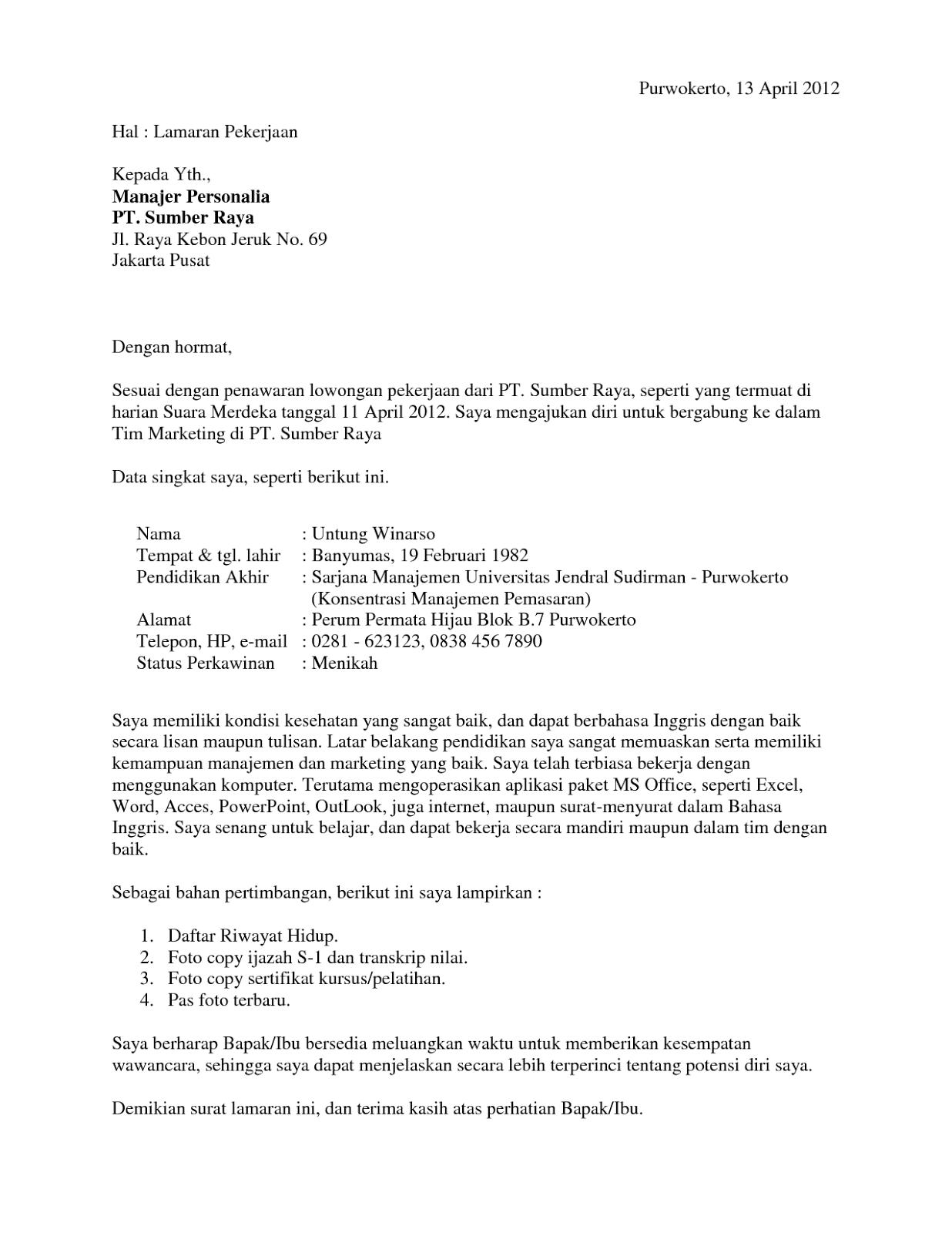 Surat Lamaran Kerja Fresh Graduate : surat, lamaran, kerja, fresh, graduate, Rekha, Frissila, (rekha_frissila), Profile, Pinterest