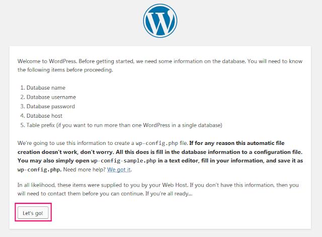 Cara Memasang Wordpress Di XAMPP 19