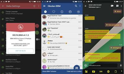 BBM Mod Delta v4.1.0 Update Terbaru Base v3.2.5.12 Apk Clone Unclone