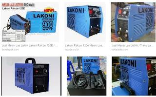 lakoni falcon 120e ialah mesin las yang memakai tehnologi inverter