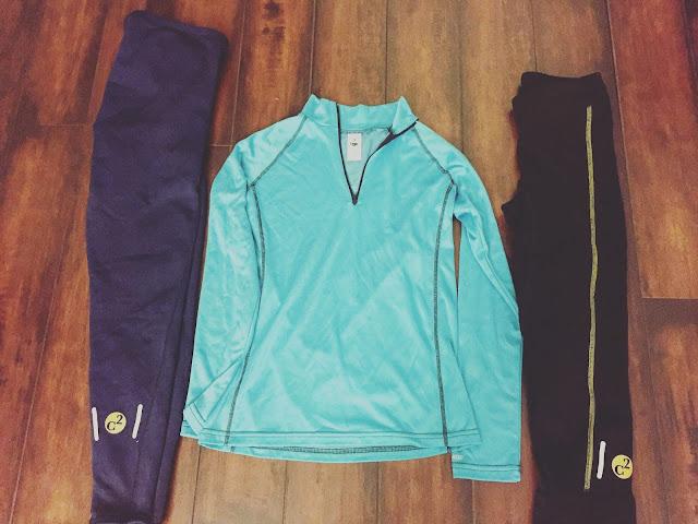 C2 Women's Elite Half Zip, Performance Crop pant, and Performance tights