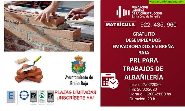BREÑA BAJA: Curso de PRL para trabajos de Albañilería