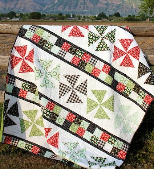 Pinwheels & Patchwork - Free Quilt Pattern