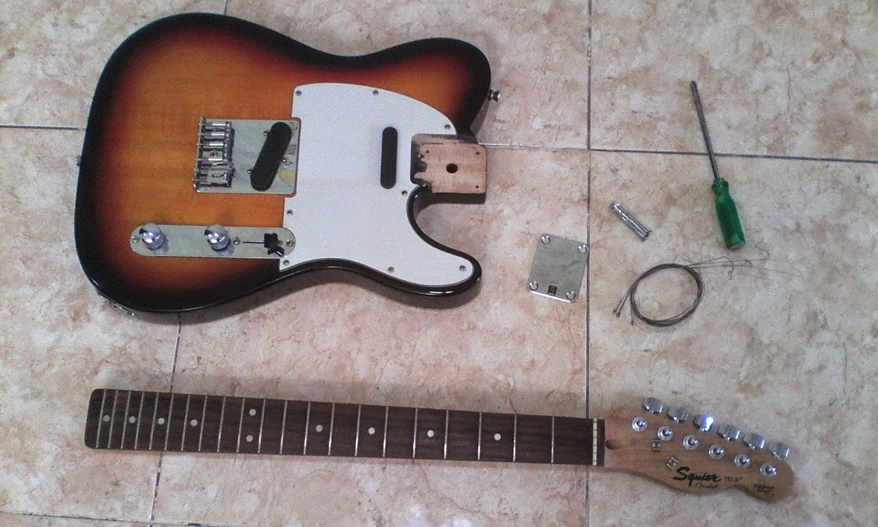 Assembling an Electric Guitar - neck and body