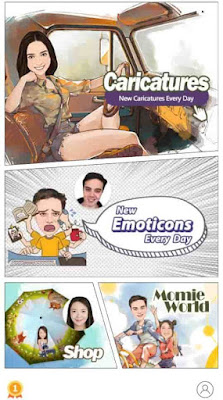 تطبيق MomentCam Cartoons & Stickers