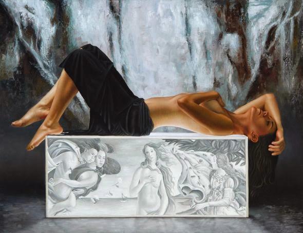 O Nascimento de Vênus - Omar Ortiz | Pintura Sensual Hiper-Realista  - Mexicano