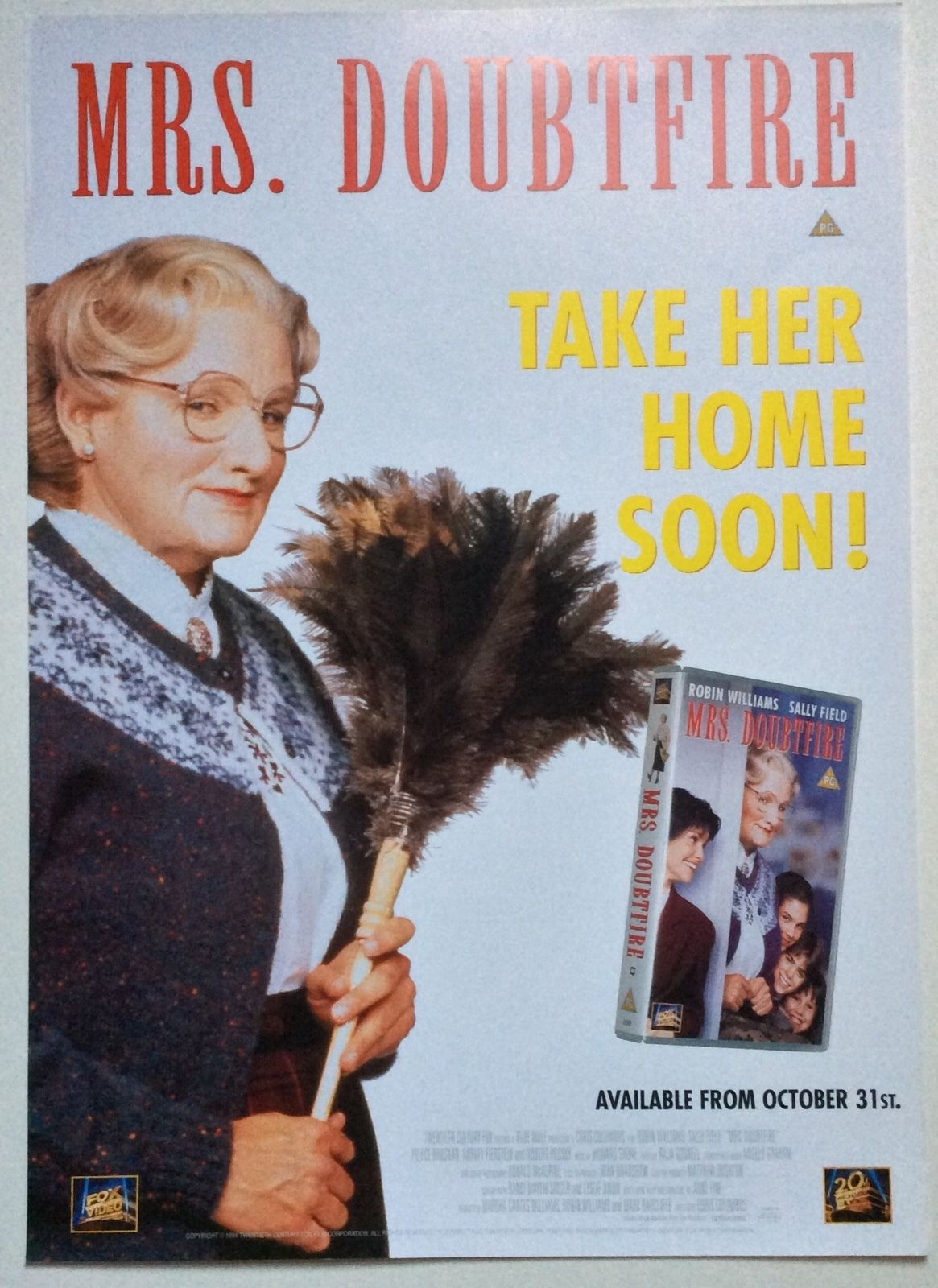 Waiching S Movie Thoughts More Retro Movie Review Mrs Doubtfire 1993 Robinwilliams