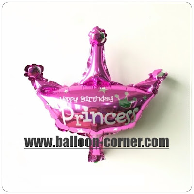 Balon Foil Happy Birthday Mahkota Princess Mini