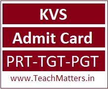 image : Kendriya Vidyala Sangathan Interview Admit Card 2019 Dates - PRT, TGT & PGT @ TeachMatters
