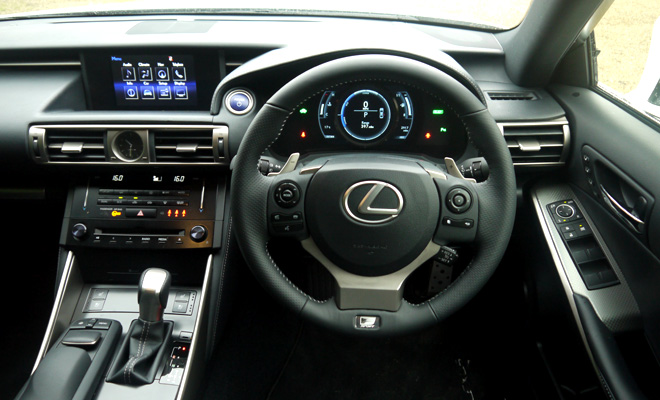 Lexus IS 300h driver's view