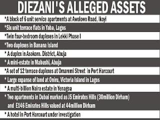 Diezani assets