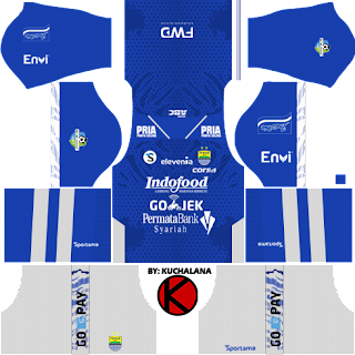 Persib Bandung 2018 Kit - Dream League Soccer Kits