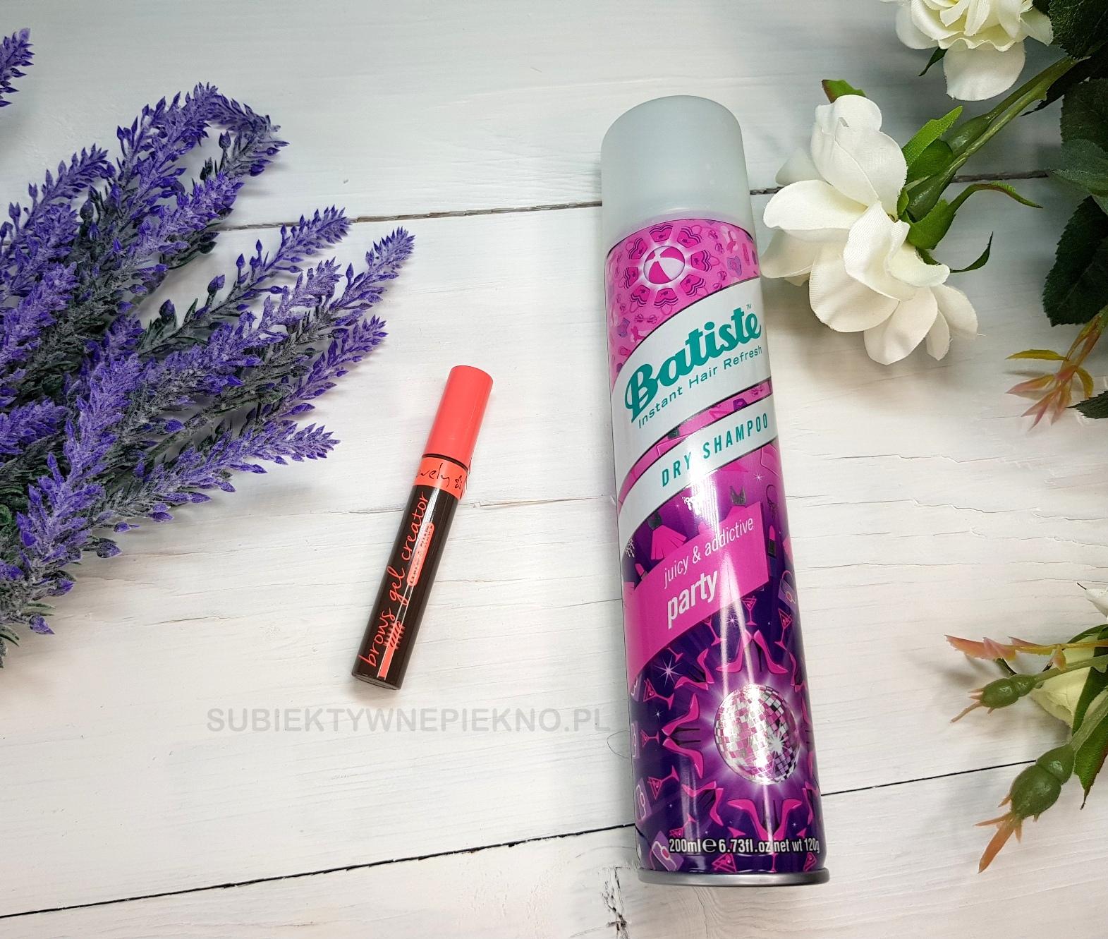 nowości września - suchy szampon batiste, żel do brwi lovely