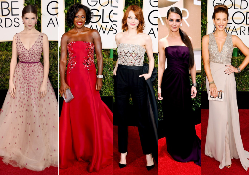 best dressed golden globes 2015 fashion dresses