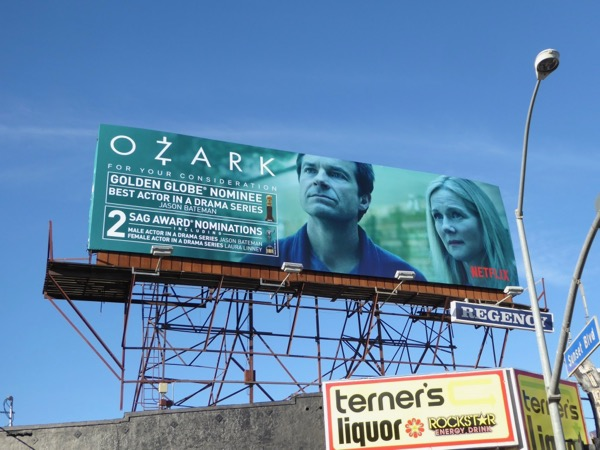 Ozark Golden Globe SAG Award nominations billboard
