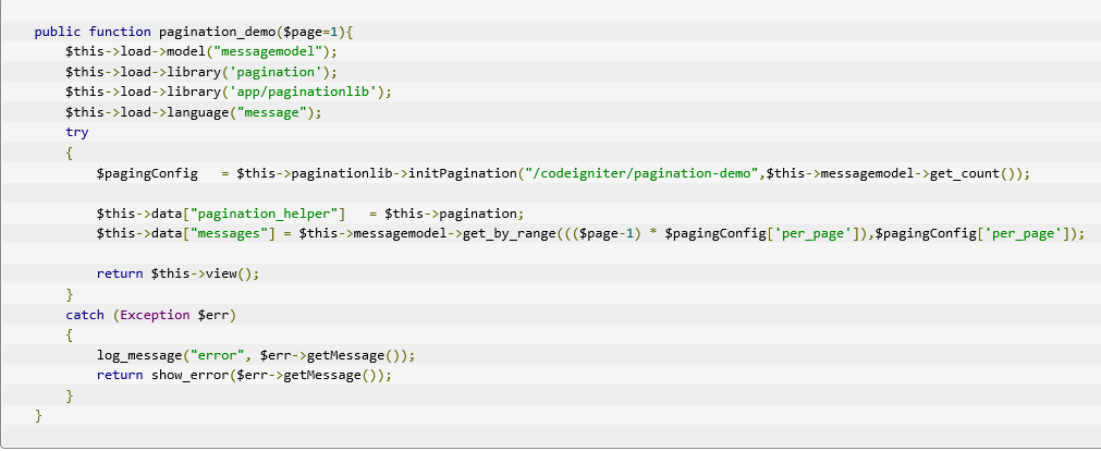 How To Work With CodeIgniter Pagination ~ BPM MOH Programmer
