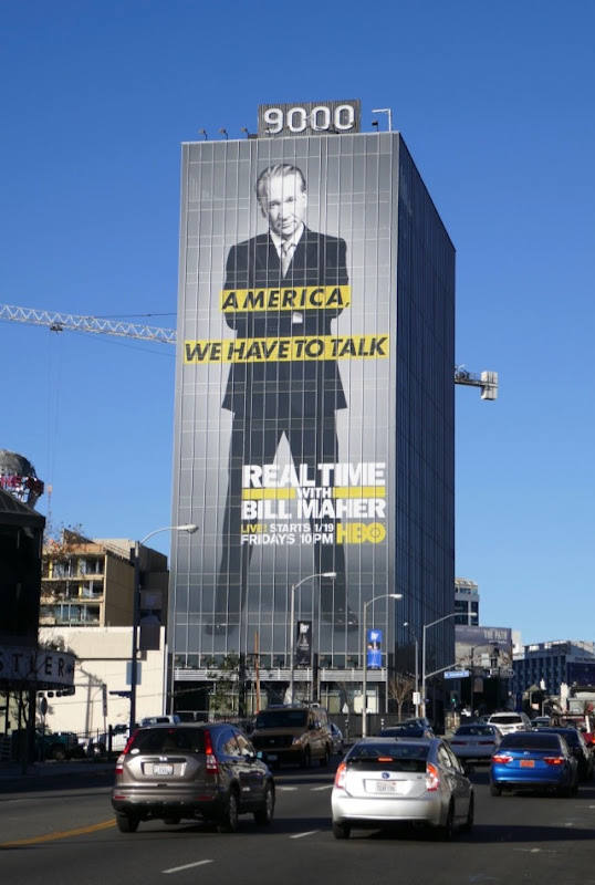 Bill Maher America we have to talk billboard