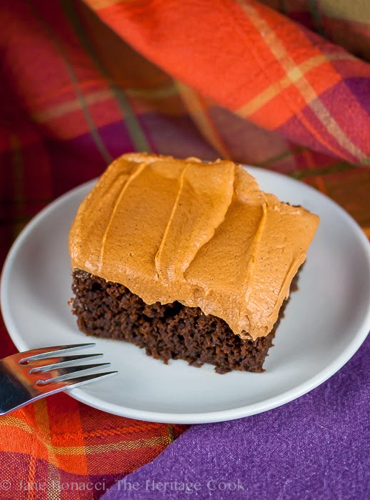 Featured Recipe: Chocolate Pumpkin Cake from The Heritage Cook
