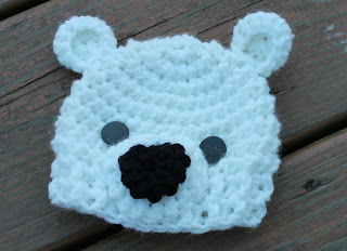 polar bear crochet hat