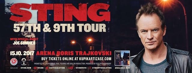 Sting to hold Skopje concert on October 15