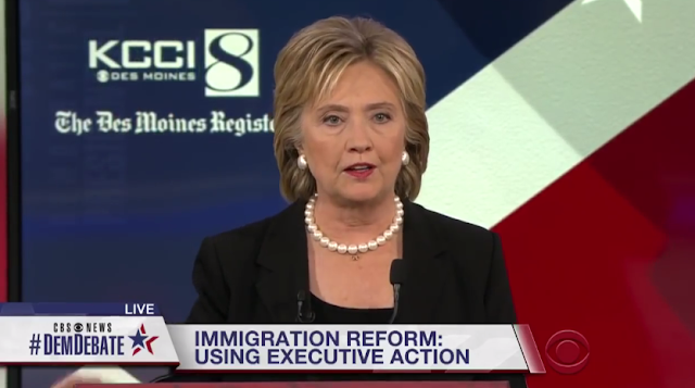 Hillary Clinton immigration reform using executive action CBS News Democratic Debate
