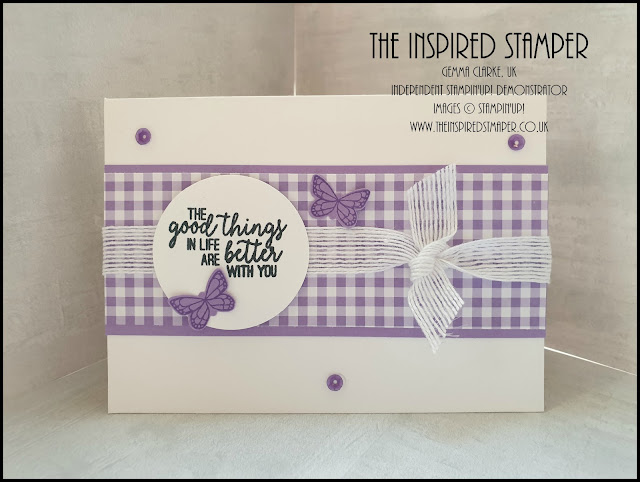 Stampin'Up! Gingham Gala Butterfly Card