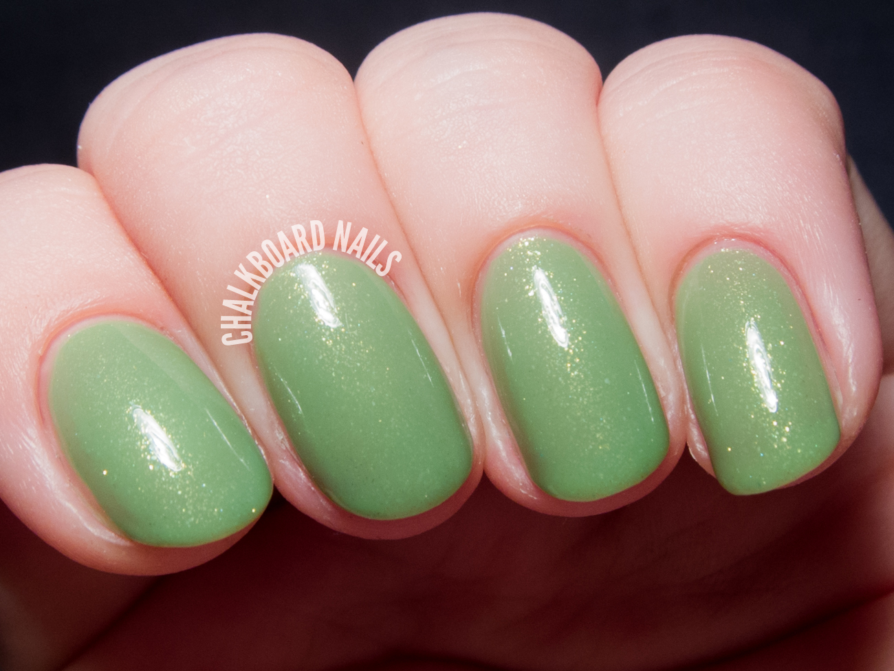 Contrary Polish Key Lime via @chalkboardnails