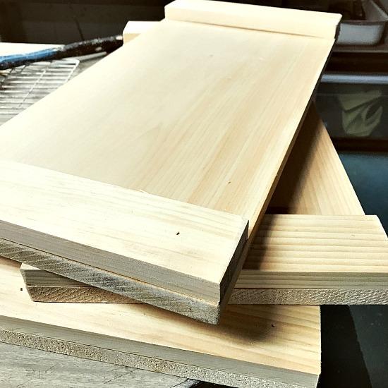 rustic wooden tray DIY