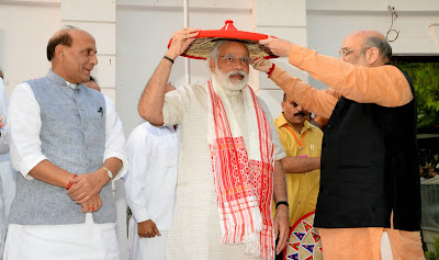 BJP makes history in North East: PM Modi with Rajnagh Singh Amit Shah