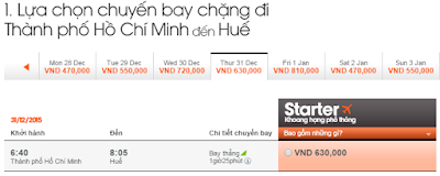 Giá vé máy bay Sài Gòn đi Huế giá rẻ