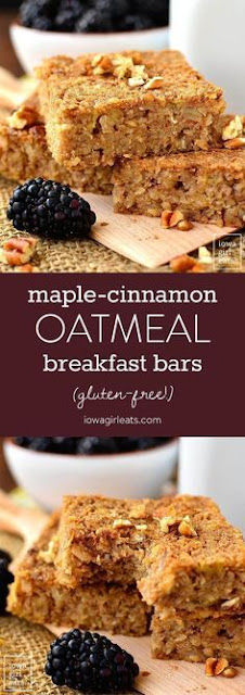 Maple-Cinnamon Oatmeal Breakfast Bars