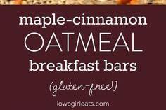 Maple-Cinnamon Oatmeal Breakfast Bars - Mom's Recipe Healthy