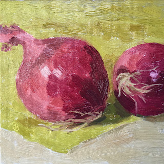 """#45 """"Red Onions' 6×6"""""""