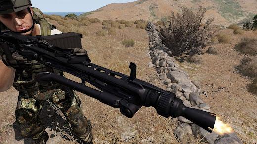 Arma3用ドイツ連邦軍MODのMG3 汎用機関銃
