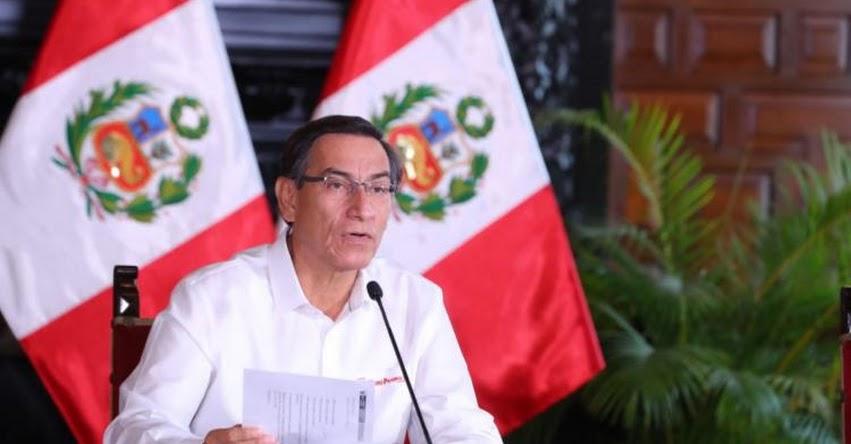 Presidente Martín Vizcarra anunció las últimas medidas adoptadas en el noveno día del estado de emergencia nacional