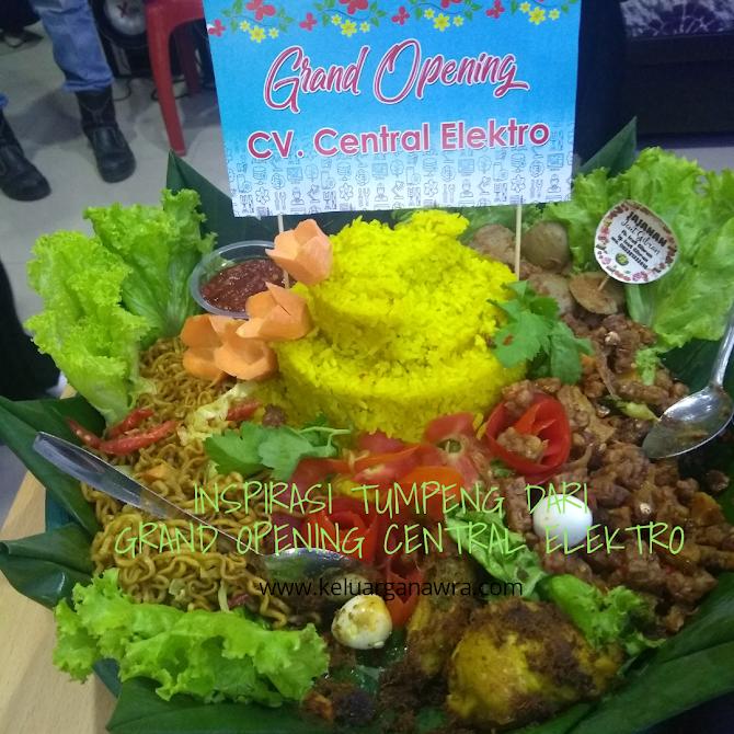Inspirasi Tumpeng dari Grand Opening Central Elektro Bengkulu