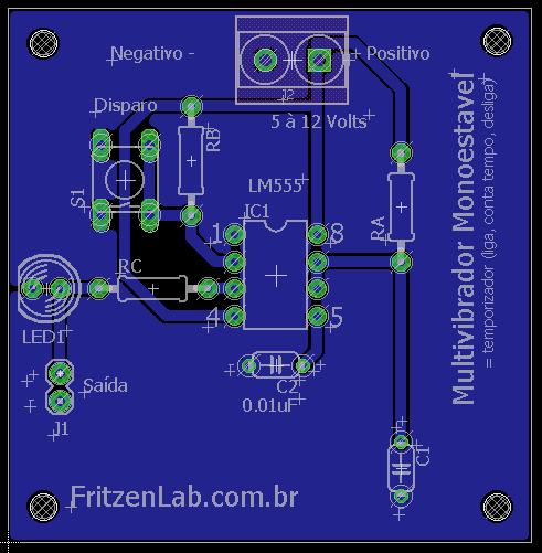 Circuito Temporizador : Gerador de pwm com circuito integrado fritzenlab
