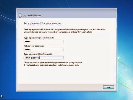 Proses isi password