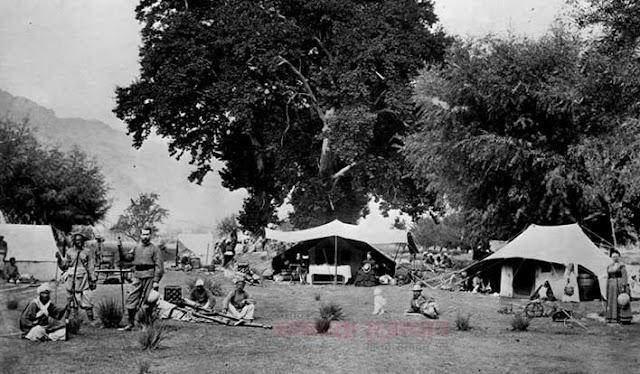 कैमरे ने वो देखा जो किसी ने नहीं देखा, british camp in kashmir 1885