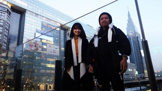 Bertemu teman sekolah yang sedang studi di Jepang