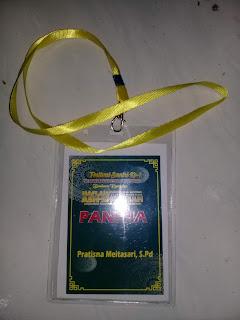 Contoh Kartu Tanda Pengenal (ID Card) Panitia Acara Pengajian Akbar Haflah Akhirussanah Lomba di Ponpes / Madrasah
