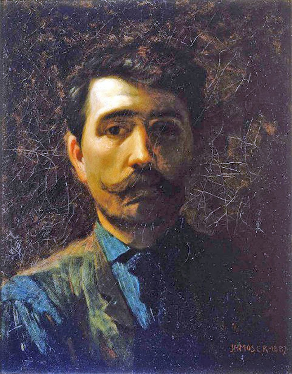 James Henry Moser, Self Portrait, Portraits of Painters, Fine arts, Painter Henry Moser