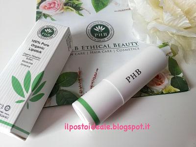 PHB 100% Pure Organic Lipstick Raspberry