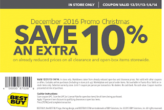 Best Buy coupons december 2016