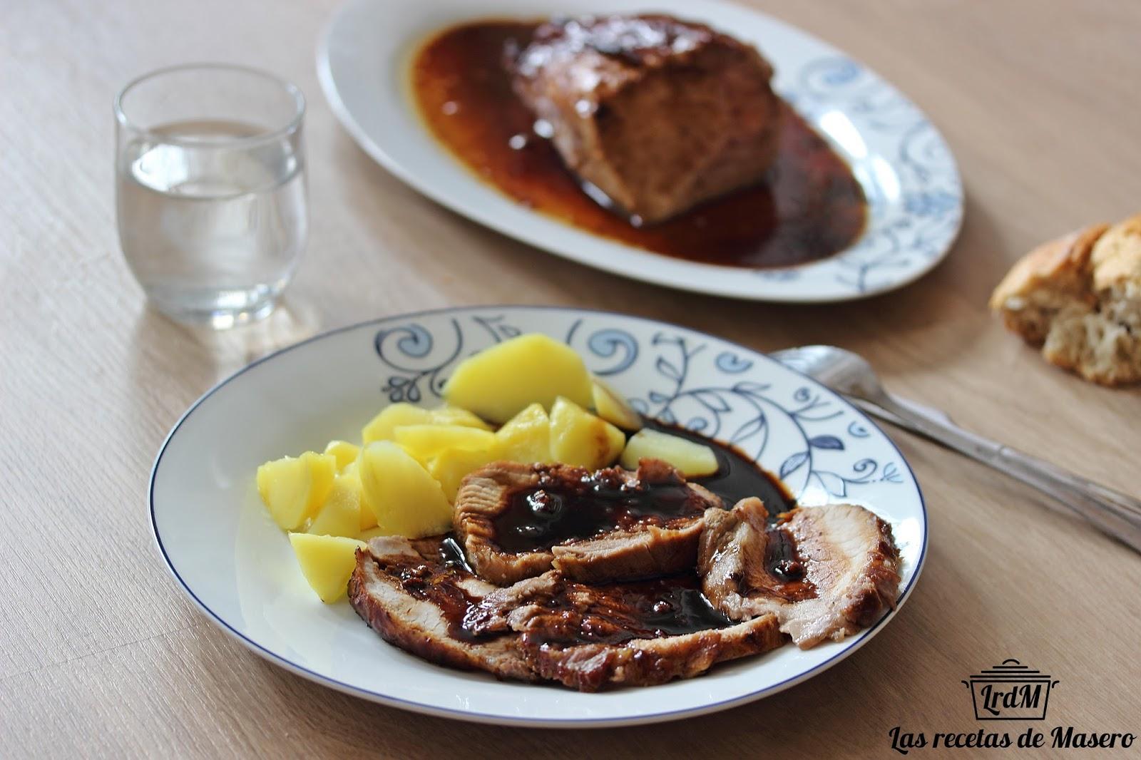 Las recetas de masero lomo de cerdo al horno con miel en for Cocinar xarda al horno
