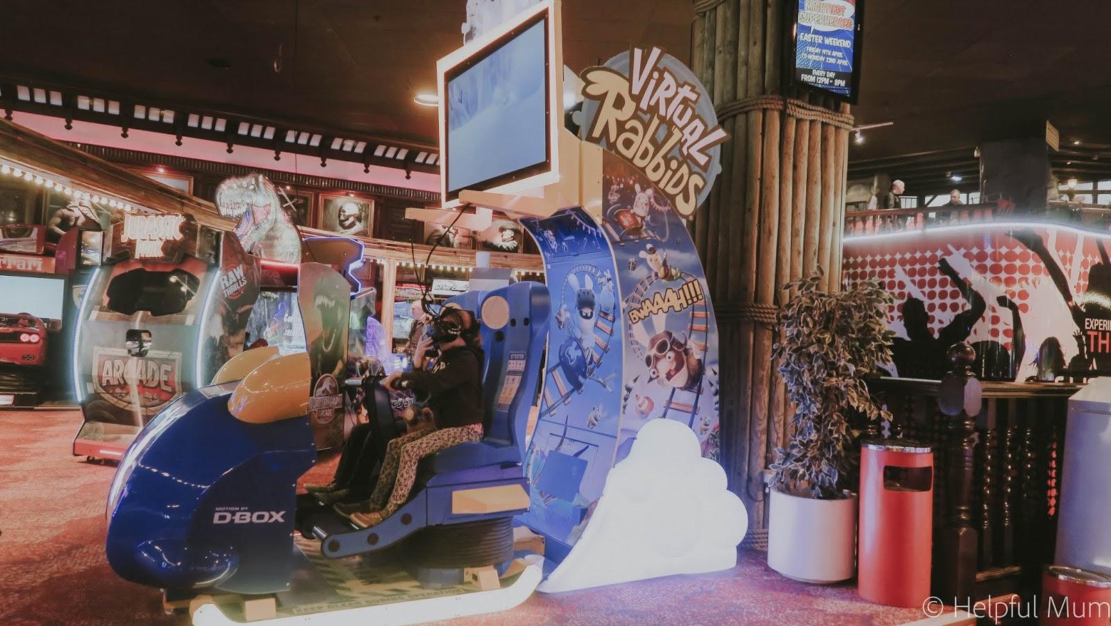 VR ride coral island Blackpool