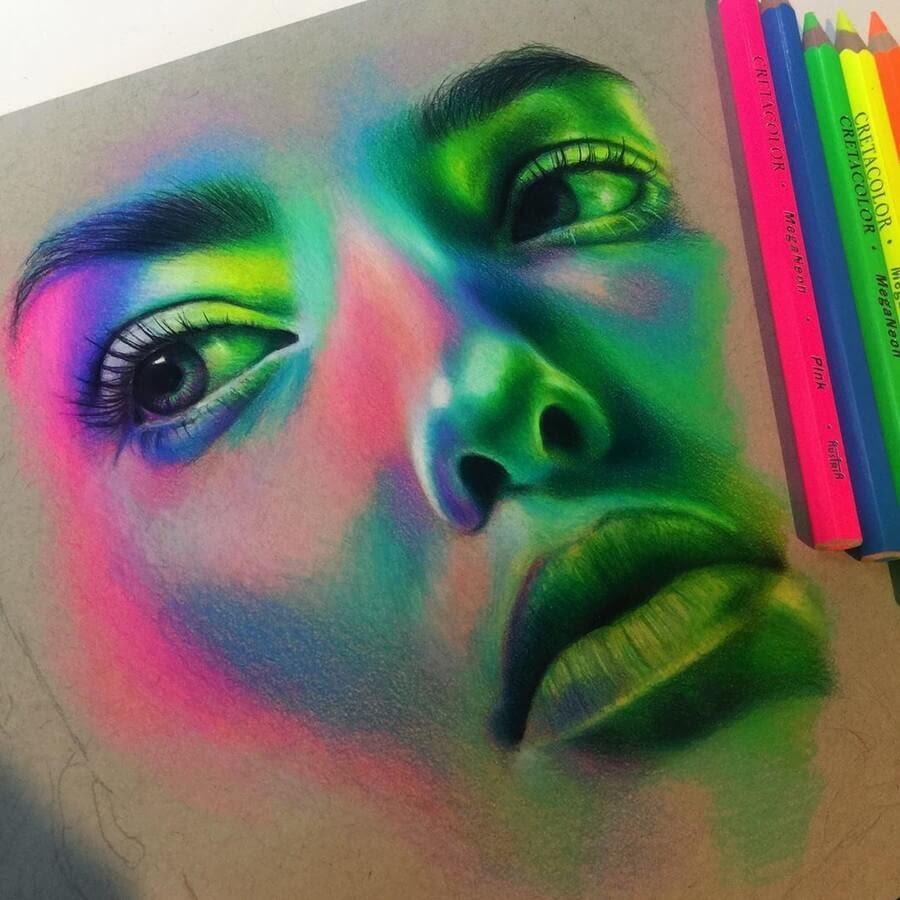 02-Portrait-1-Jenna-Very-Vivid-Colors-in-Varied-Drawings-www-designstack-co
