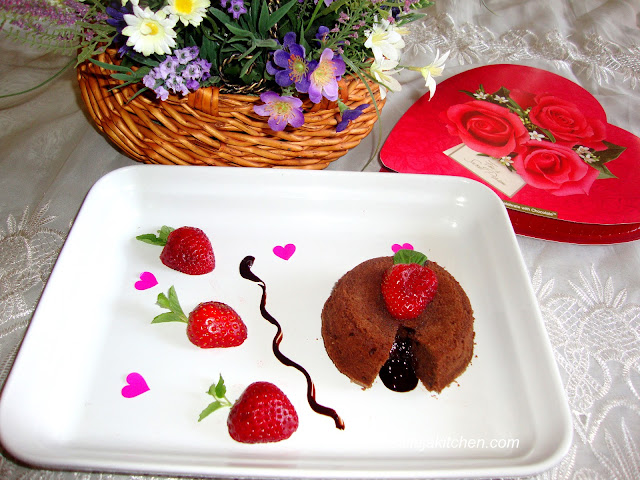 images for Molten Lava Cake Recipe / Molten Chocolate Cakes Recipe / Chocolate Molten Lava Cakes Recipe