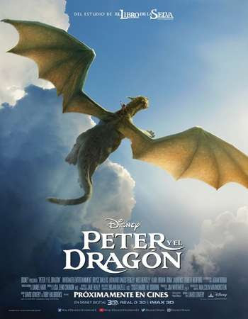 Poster Of Pete's Dragon In Dual Audio Hindi English 300MB Compressed Small Size Pc Movie Free Download Only At worldfree4u.com