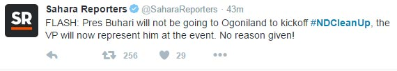 President Buhari makes a U-turn on Rivers State visit after militants threatened to kill him